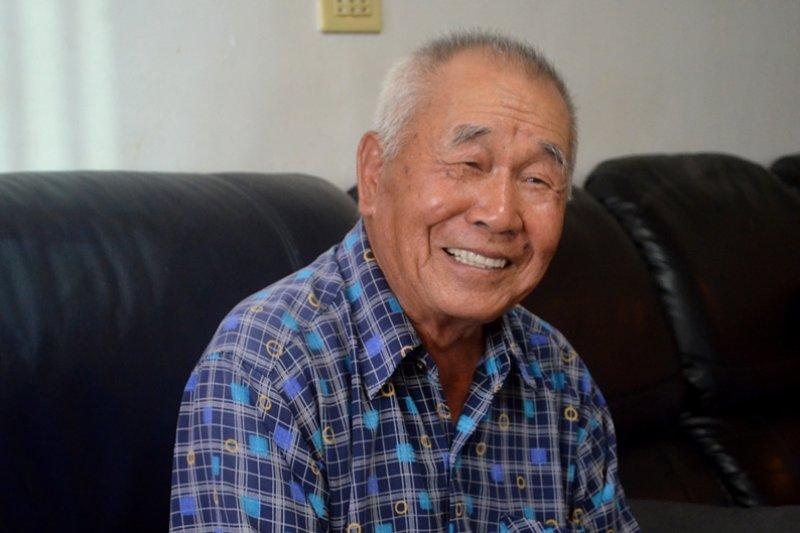 81歲阿公準備攻上小巨蛋舞台!(圖/李明娟攝)