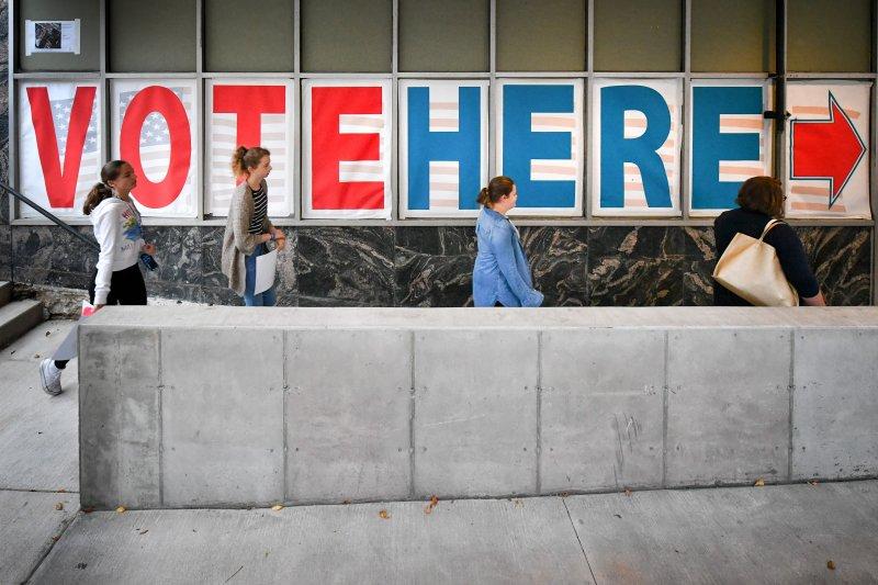 美國37州及首都華府陸續開始提前投票(Early Voting)。(美聯社)