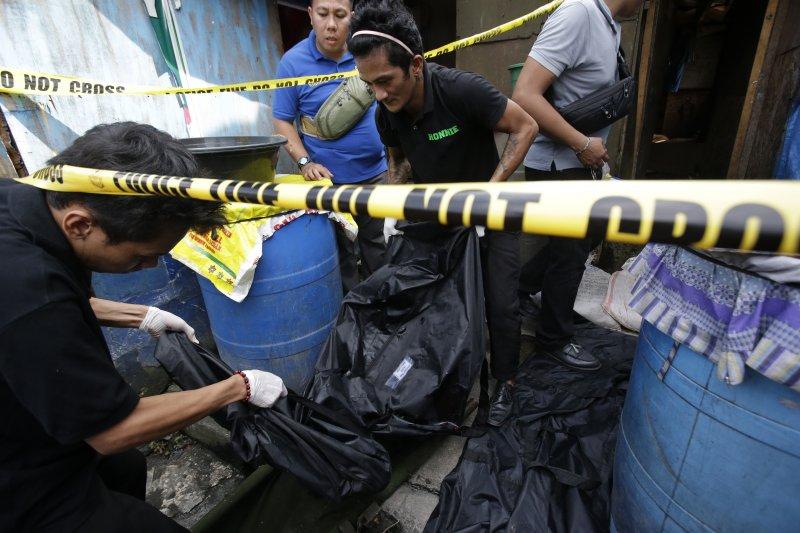「疑似」毒販遭到殺害,這種景象在菲律賓天天可見。(美聯社)