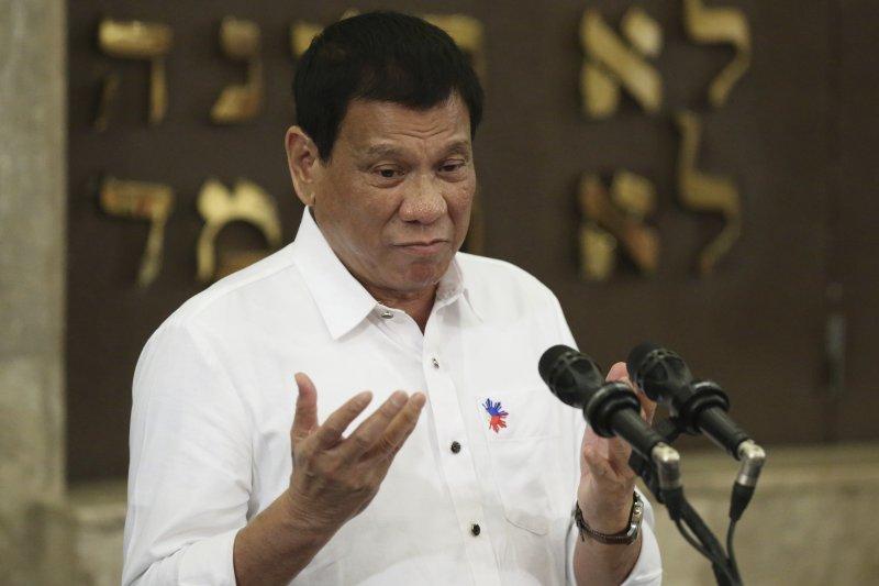 菲國總統杜特蒂,誓言殲滅毒品犯罪。(美聯社)