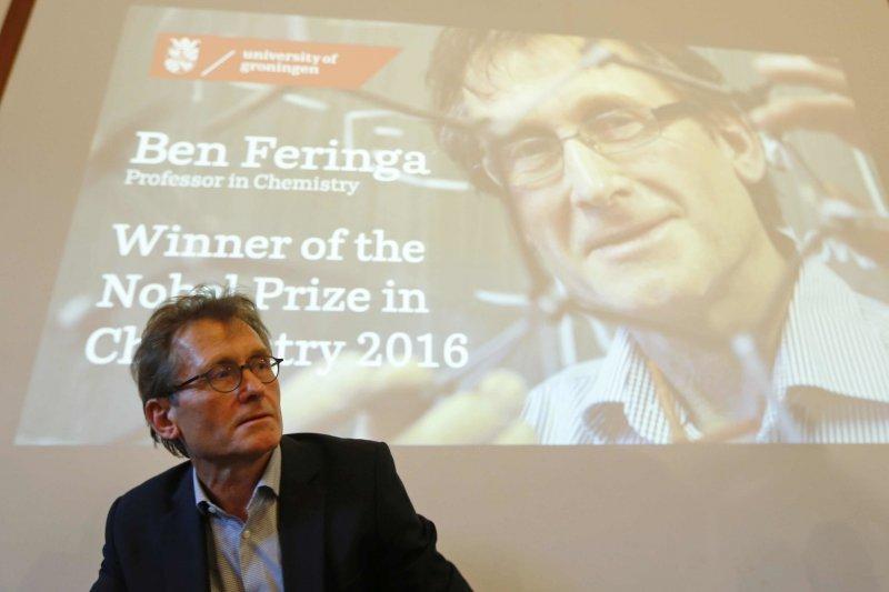 2016諾貝爾化學獎得主之一:費倫加(Bernard L. Feringa)。(美聯社)