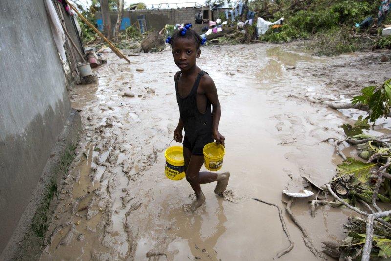 加勒比海超級颶風「馬修」(Matthew)侵襲台灣海地(Haiti)(AP)
