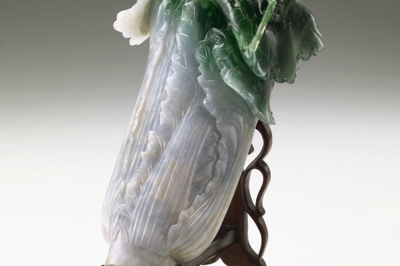 翠玉白菜重返臺北。(國立故宮博物院提供)