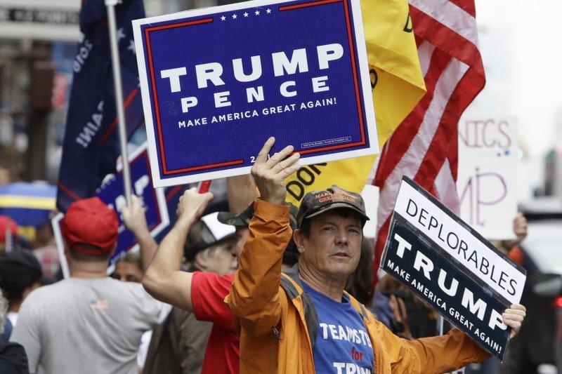 共和黨總統候選人川普的支持者。(美聯社)
