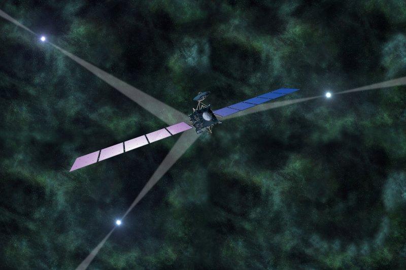 「脈衝星導航」衛星試驗想像圖(取自網路)