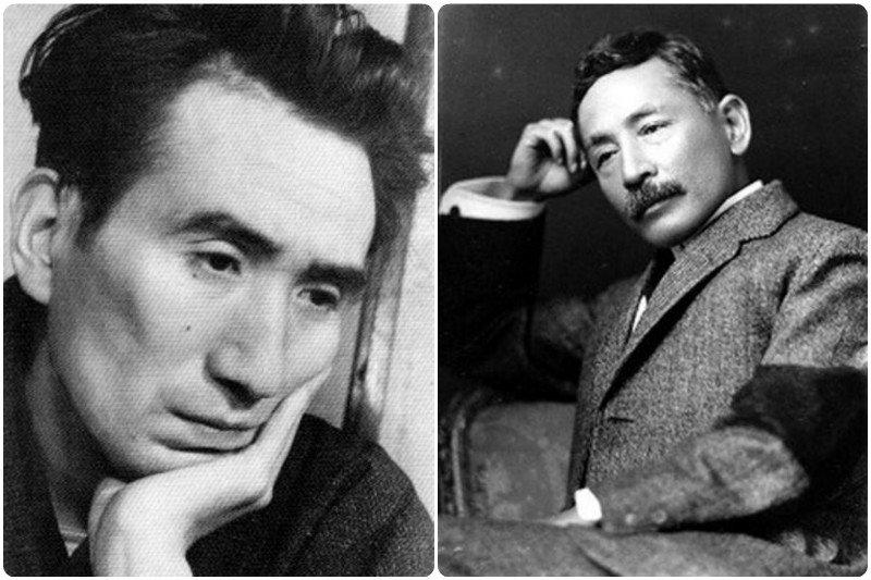 日本文豪太宰治(左)和夏目漱石(右)受依戀障礙所苦,兩人造成依戀障礙的原因相似。(圖合成/wikipedia)
