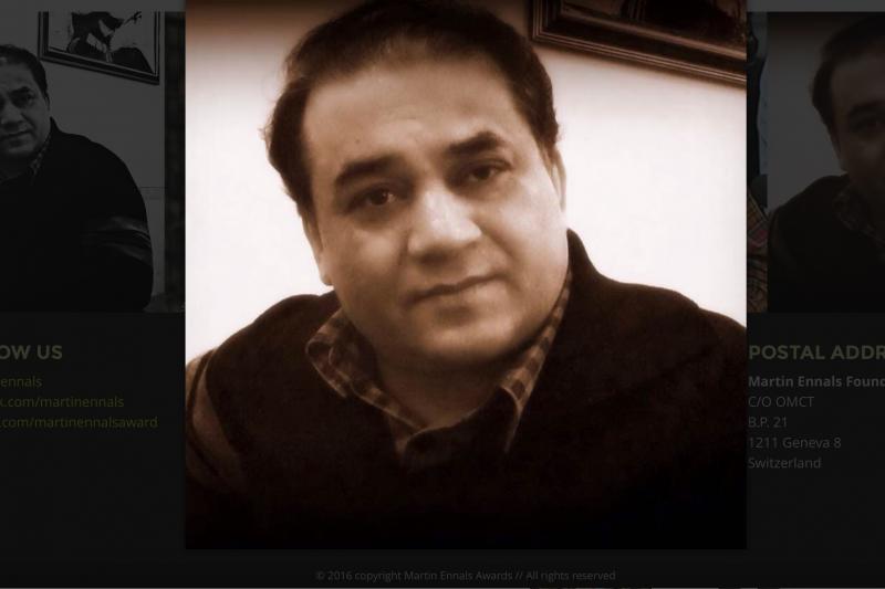 2016「馬丁.恩納爾斯人權捍衛者獎」得主伊力哈木。(馬丁.恩納爾斯獎官網)