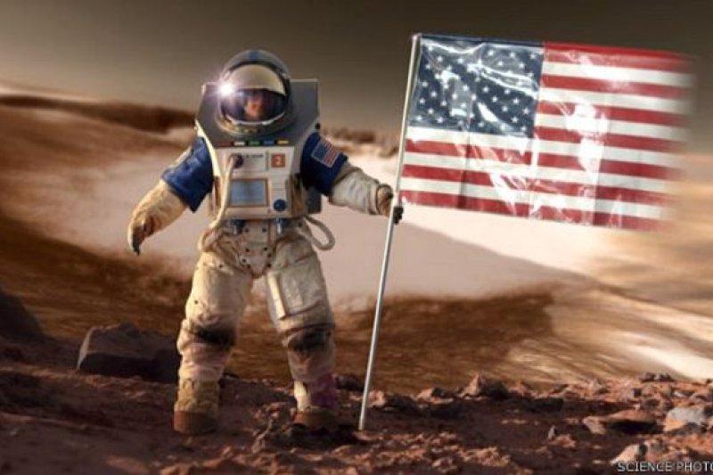太空人登陸火星(設計圖,BBC中文網)