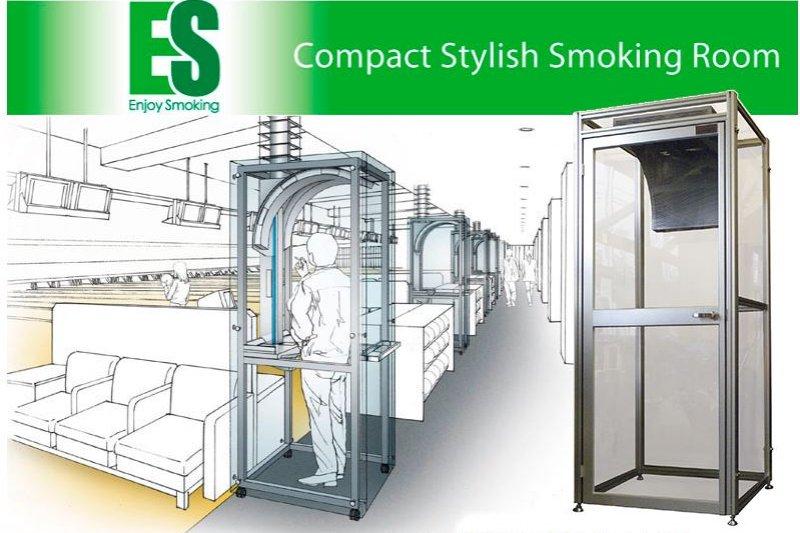 單人吸菸亭的設置範例。(翻攝菱熱工業官網)