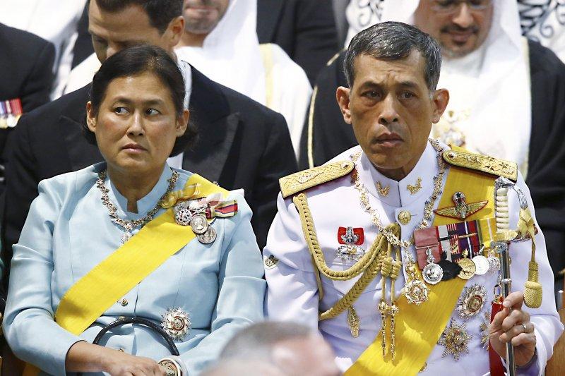 泰國新王瓦吉拉隆功與妹妹詩琳通公主(AP)