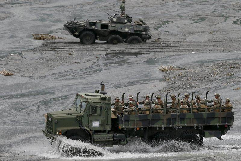 2016年的美菲兩棲聯合軍演(資料照,美聯社)