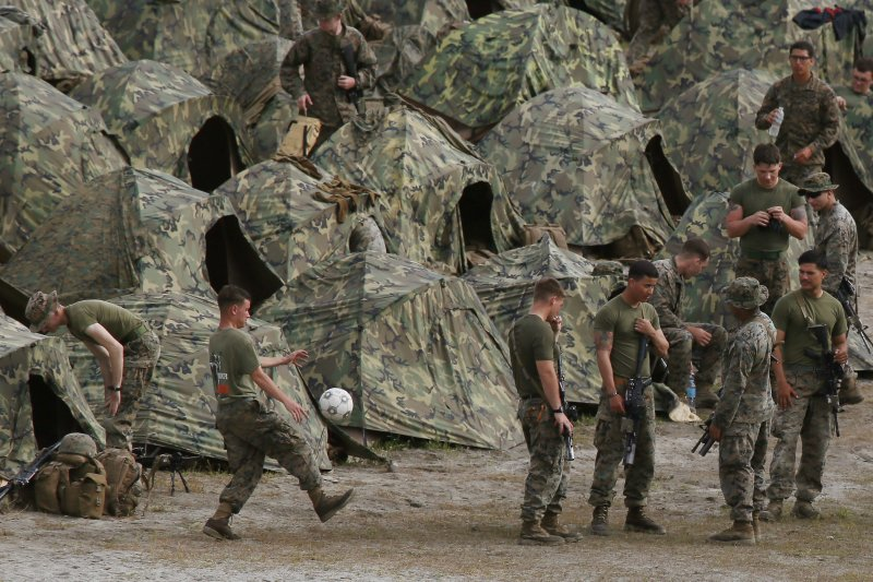 2016年的美菲兩棲聯合軍演,成了美菲之間的末代軍演。(美聯社)