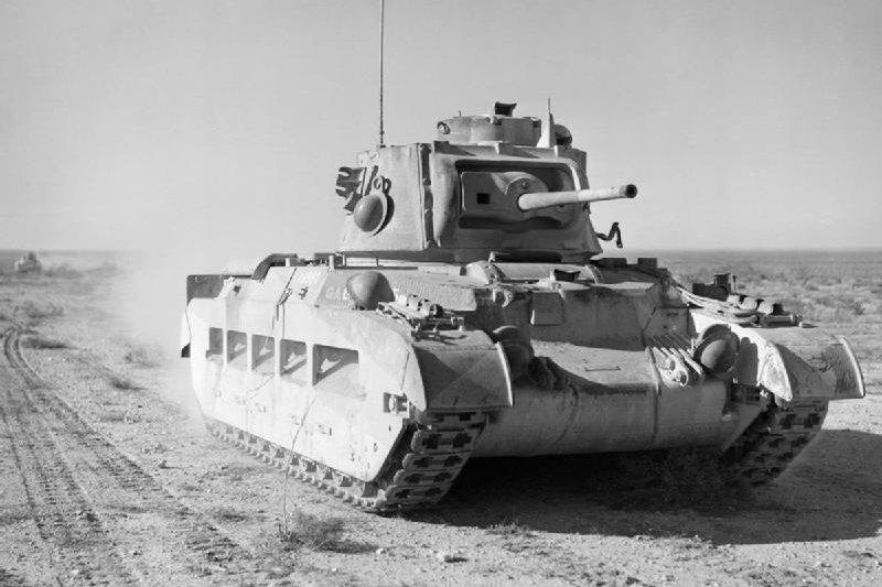 北非戰役中的瑪蒂達二型坦克。(wikipedia/public domain)