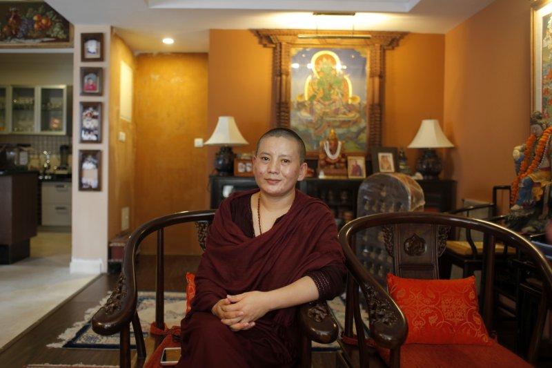 瓊英卓瑪不主張清貧生活,惹來許多非議。(美聯社)
