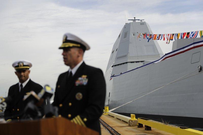 美國海軍史上最先進軍轞「朱瓦特號」(USS Zumwalt)驅逐艦(AP)