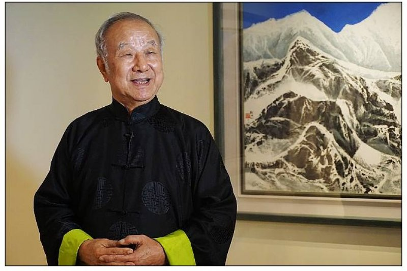 台師大客座教授劉國松,獲美國AAAS院士。 (取自國立台灣師範大學秘書室)
