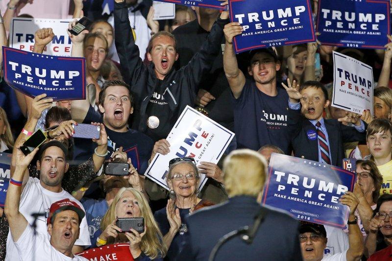 美國共和黨總統候選人川普與其支持者(AP)
