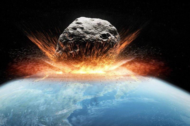 小行星撞地球(取自網路)