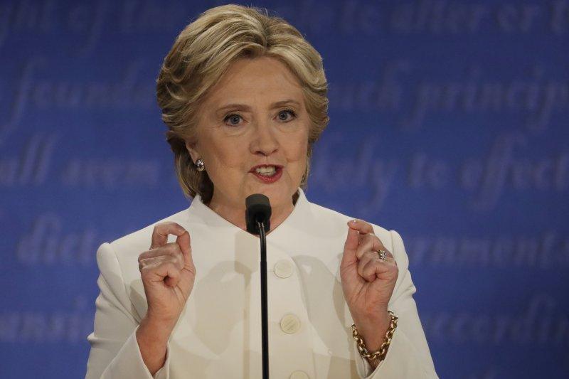 2016美國總統大選電視辯論。(美聯社)