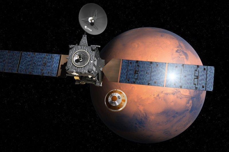 火星登陸器「斯基亞帕雷利號」疑似已經墜毀。(美聯社)