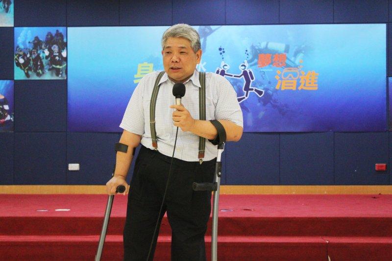 民進黨籍立委王榮璋說,為體現身心障礙人權公約(CRPD),台灣已從過去福利觀念走向爭取權利(黃麒珈攝)