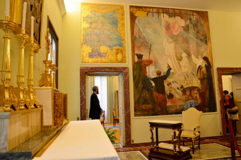 夏宮祈禱室,是教宗私人的靜修處。(曾廣儀攝)