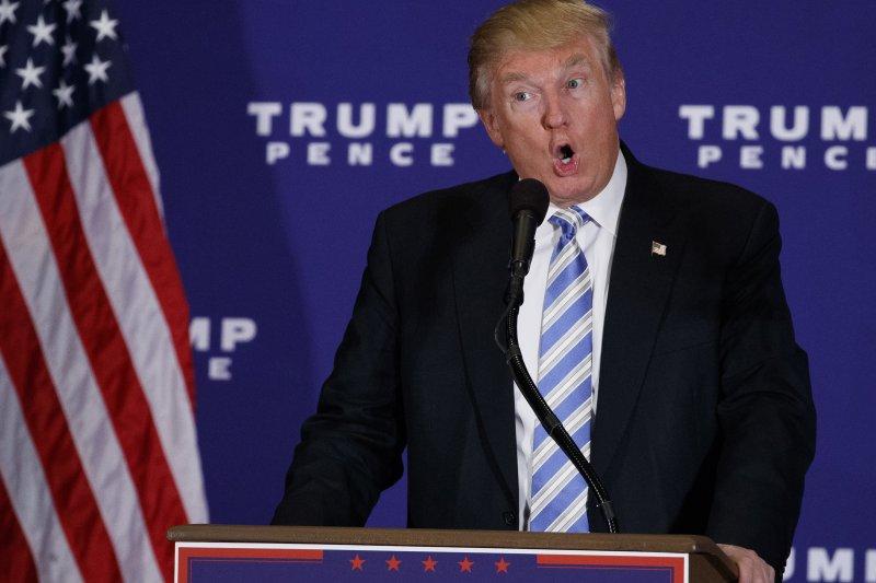 美國共和黨總統候選人川普發表「蓋茲堡演說」,想以前總統林肯為榜樣。(美聯社)