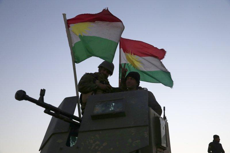伊拉克庫德族(Kurds)的「敢死軍」(Peshmerga)投入摩蘇爾戰役(AP)