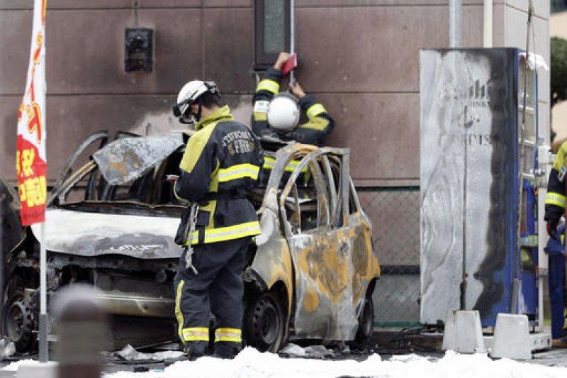日本栃木縣宇都宮市城址公園23日發生爆炸,造成1死3傷。(美聯社)
