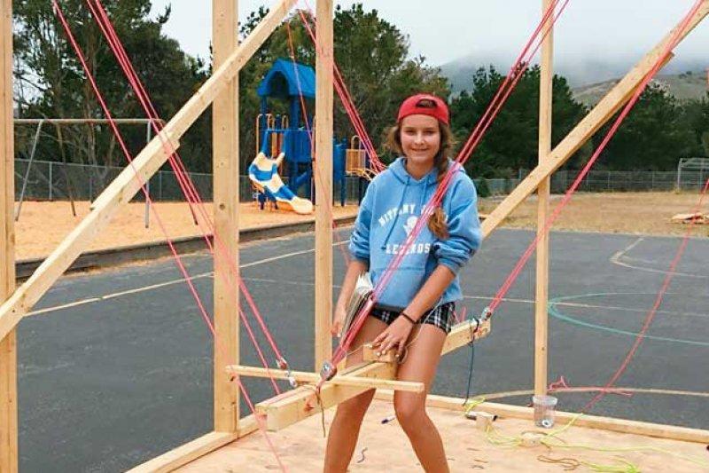 美國的創客夏令營,讓孩子獨立體驗人生。(圖/何琦瑜攝,親子天下提供)