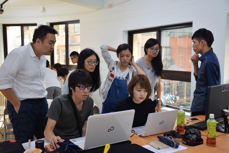 新竹市政府表示,師生們經過實地探查、彼此討論,提出「築府共玩」,讓評審老師眼睛為之一亮。(新竹市政府提供)