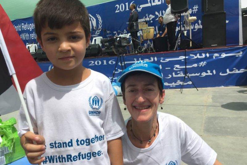 葛若鄰現為聯合國聯合國難民署新聞官。(圖/Caroline Gluck)