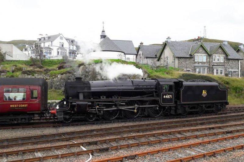 來到蘇格蘭,千萬別錯過哈利波特的蒸汽火車!(圖/作者提供)