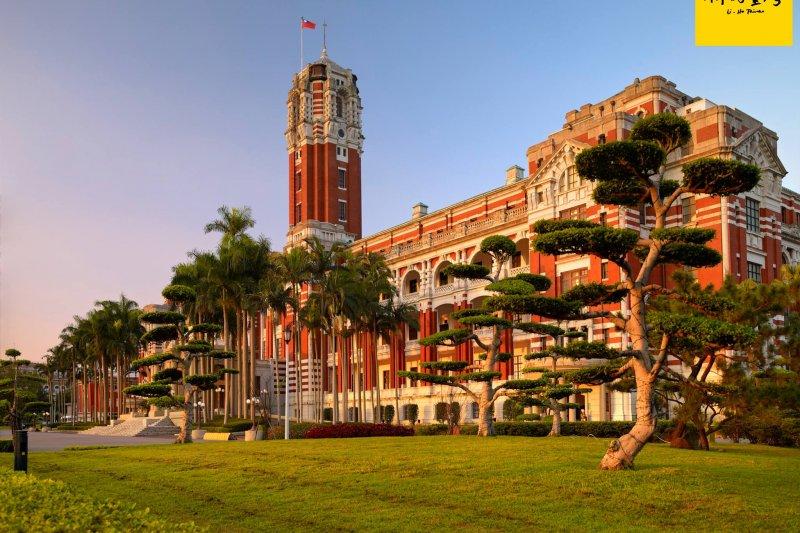 總統府本身是棟國定三級古蹟,完工於1919年。(圖/你好臺灣)