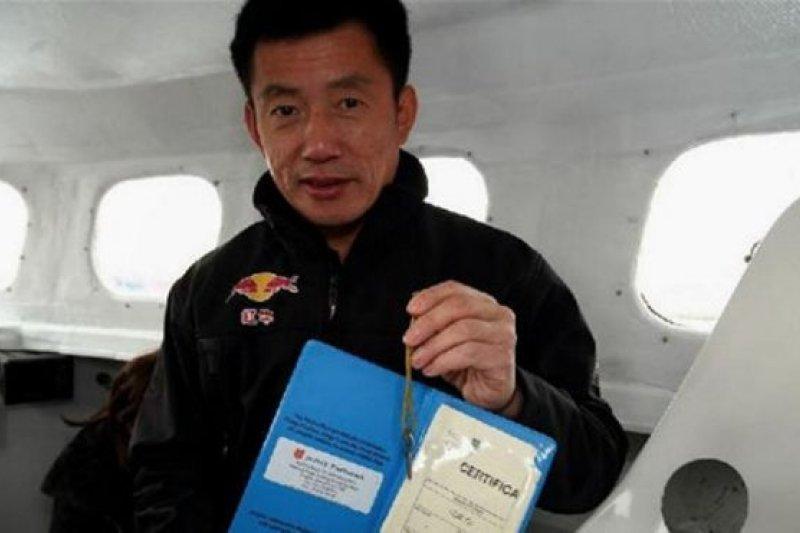 郭川是兩項航海世界紀錄保持者。(BBC中文網)