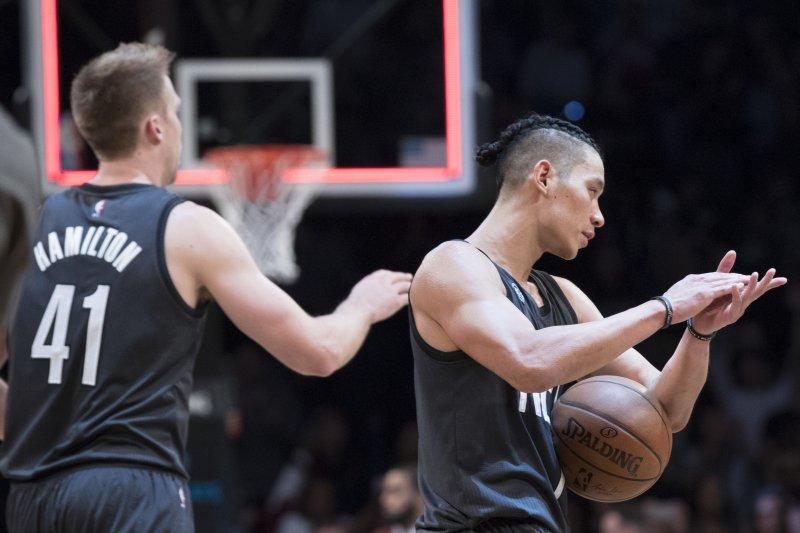 美國職籃NBA布魯克林籃網隊華裔後衛林書豪,28日在主場迎戰印第安納溜馬隊,表現精彩(AP)