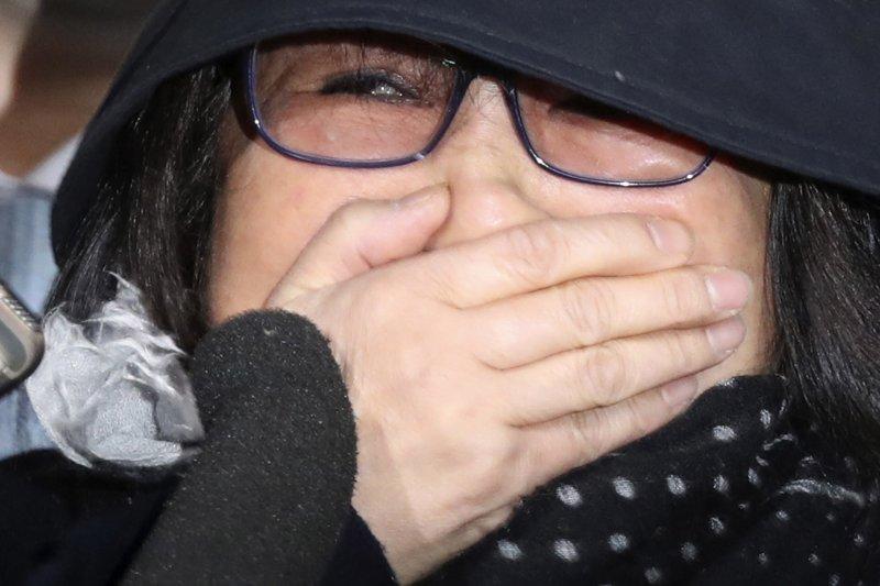 朴槿惠密友崔順實31日在首爾中央地方檢察廳初次接受偵訊。(美聯社)