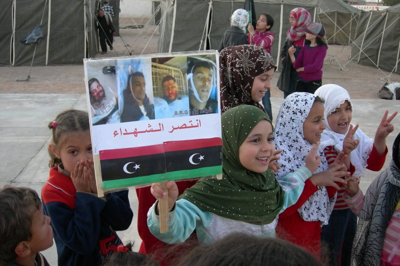 利比亞內戰,難民營(Magharebia@Wikipedia / CC BY 2.0)