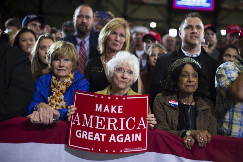 川普支持者。(AP)