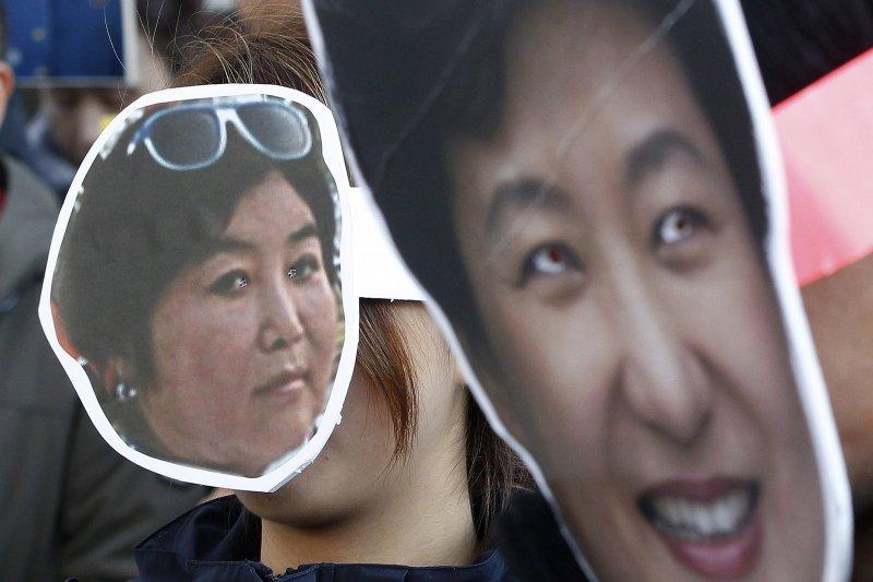 南韓總統朴槿惠爆發「親信門」醜聞,密友崔順實之女鄭尤拉受三星等財團大筆補助。(資料照,美聯社)