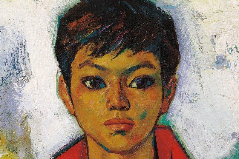 他遇見一位還在念高中,濃眉大眼的年輕少年,第一次見面就深深著迷,於是有了席德進的代表作-《紅衣少年》。(圖/席德進,《紅衣少年》@想想論壇)
