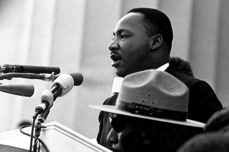 馬丁·路德·金恩在華盛頓特區發表演講《我有一個夢》。(資料照,維基百科)