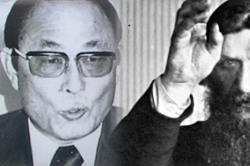 南韓總統朴槿惠昔日「精神導師」崔太敏(右)常被比為俄羅斯著名妖僧拉斯普京。(Public Domain)