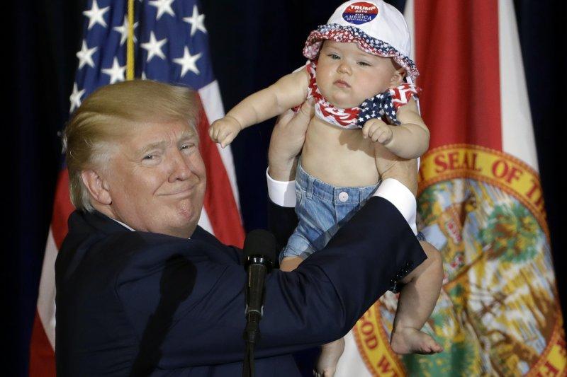 美國總統大選共和黨候選人川普5日在佛羅里達州造勢(AP)