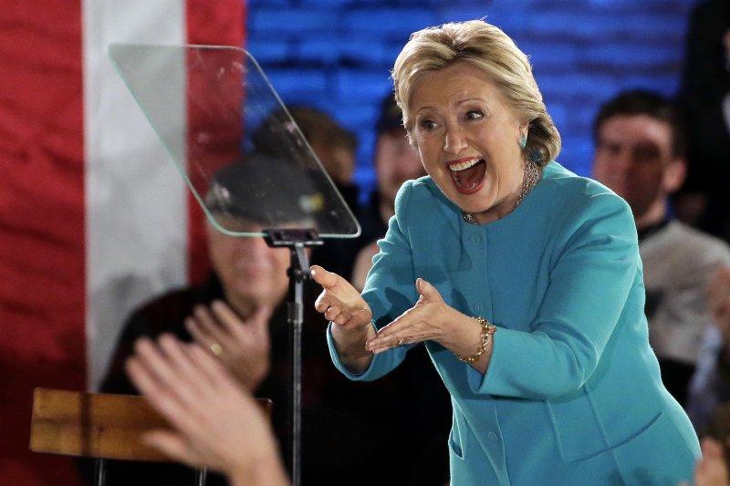 最新民調顯示,民主黨總統候選人希拉蕊領先5個百分點(美聯社)
