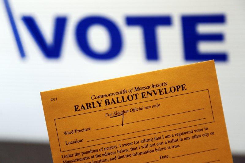 美國總統大選提前投票的選票信封(美聯社)