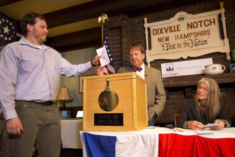 美國新罕普夏州的迪克斯維爾山口素有「美國大選第一村」的美稱。(美聯社)