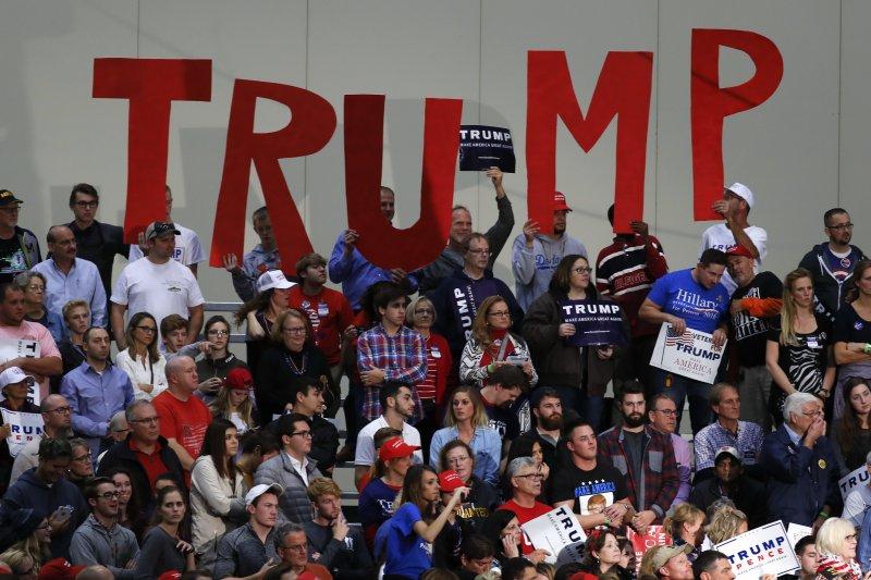 美國共和黨總統候選人川普於投票前1天在密西根州造勢(美聯社)
