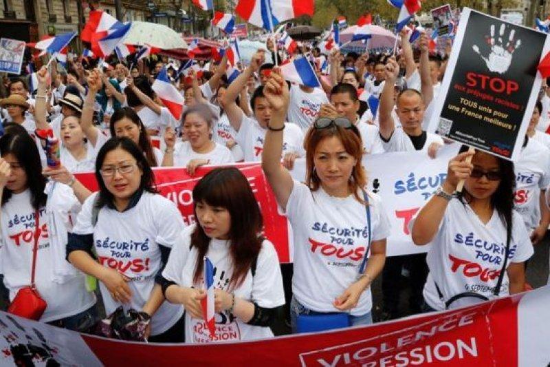 法國華裔社區表示:受夠了 。(取自BBC中文網)