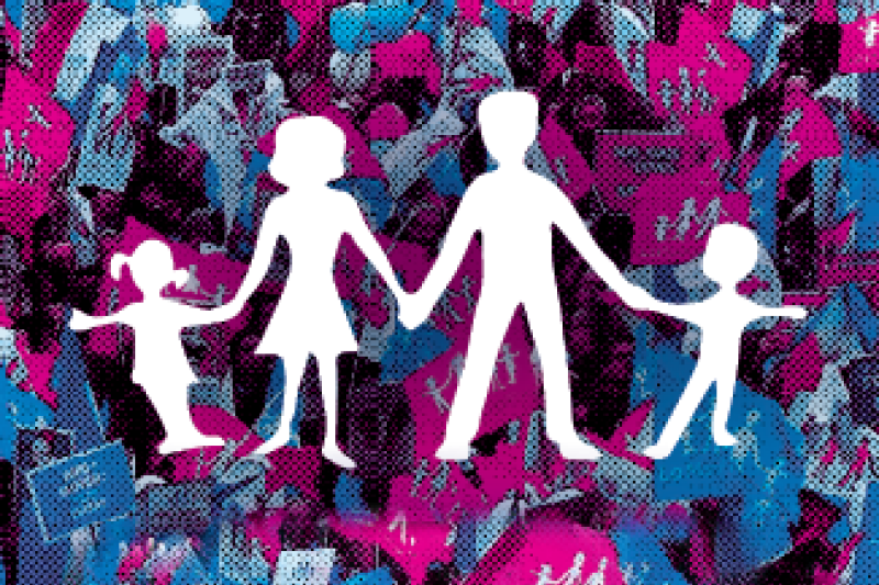 諸多反對婚姻平權的社會倡議者,經常將「守護下一代幸福」、「孩子需要一個爸爸、一個媽媽」來做為盾牌,護航個人的意識形態,但教育現場對於性少數的霸凌仍然存在。(取自守護幸福家庭行動聯盟臉書粉絲團)